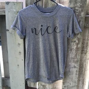 Anthropologie Sol Angeles cotton blend tee XS NWOT